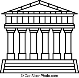 Italian temple icon, outline style