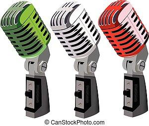 Italian tricolor microphones - Italian tricolor Italian...