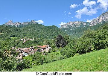 italian village in mountain