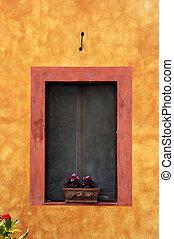 Italian Window - Colourfull italian window in Tuscany