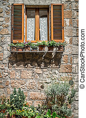 Italian Windows with shutters