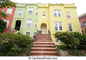 Italianate Style Row House Homes Washington DC - Multi-...