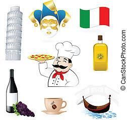 italiano, ícones