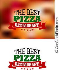 italiano, bandeira, pizza