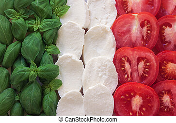 italiano, caprese, alimento, -