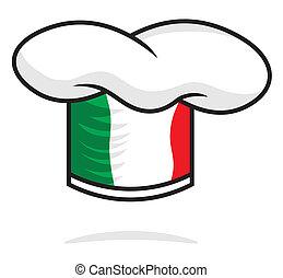 italiano, chapéu, cozinheiro