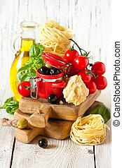 italiano, comida.