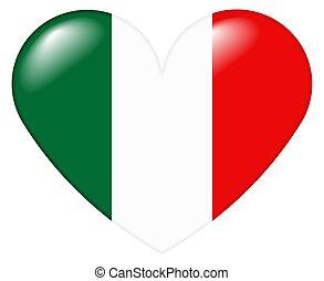 italiano, coração, italiano, -, cuore