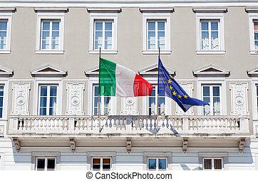 italiano, eu, bandiere