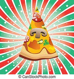 italiano, fatia, pizza
