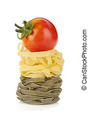 italiano, macarronada, com, tomate, cereja, cima