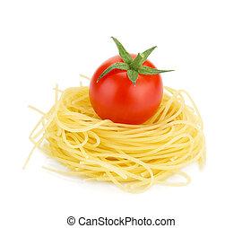 italiano, macarronada, e, tomate cereja