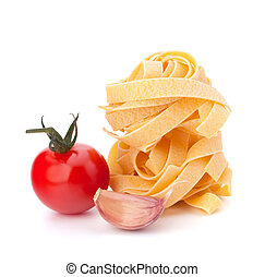 italiano, macarronada, fettuccine, ninho, e, tomate cereja