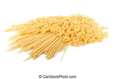 italiano, pastas, en, diferente, formas
