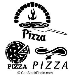 italiano, pizzeria, jogo, ou, restaurante