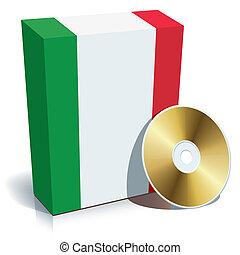 italiano, software, caixa, e, cd
