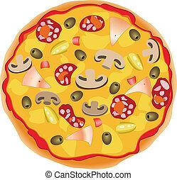 italiano, vetorial, pizza