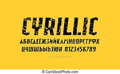 Italic sans serif font in sport style