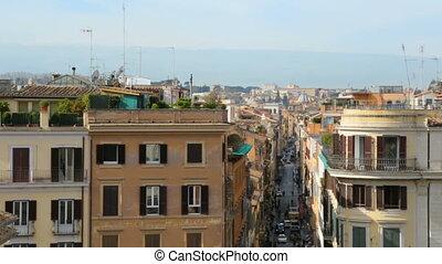 italie, étroit, au-dessus, rue, rome, vue