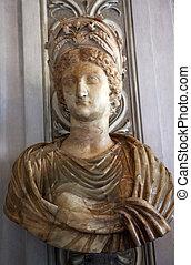 italie, capitoline, livia, musée, épouse, buste, augustus, ...
