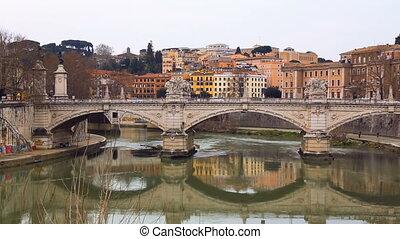 italie, emanuele, vittorio, pont, célèbre, rome