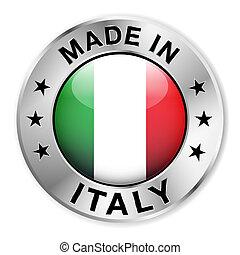 italie, fait, écusson, argent