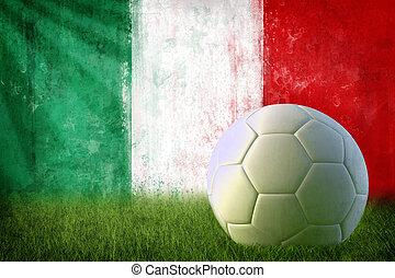 italie, football, grunge, mur