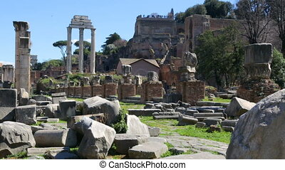 italie, forum, ensoleillé, romain, jour, rome