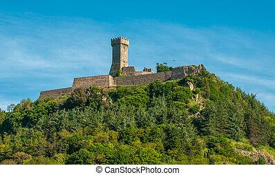 italie, la, radicofani, toscane, rocca, forteresse