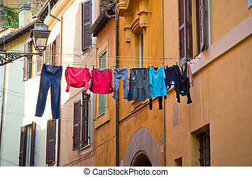 italie, rues, rome, trastevere