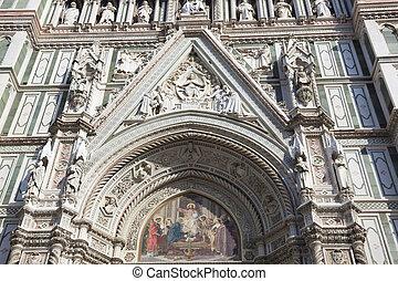 italie, santa, toscane, del, cathédrale, fiore, florence, maria