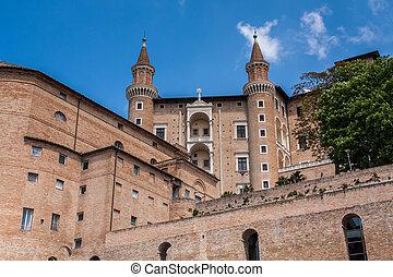 italie, urbino, palais