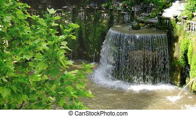 italie, villa, jet, grand, -, eau, renaissance, fontaine, d'...