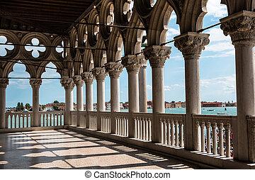 italien, arkade, venedig, doge's, gotische architektur, palace: