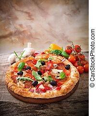 italien, délicieux, pizza