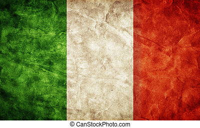 italien, flag., weinlese, posten, flaggen, retro, sammlung, ...