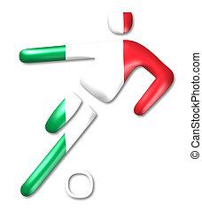 italien, football, symbole