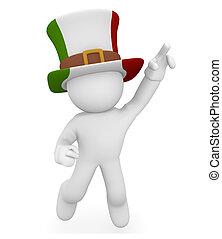 italien, football, ventilateur