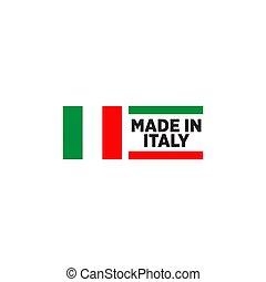 italien, produit, emblème, gabarit, logo, conception