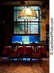 italienisches restaurant, inneneinrichtung