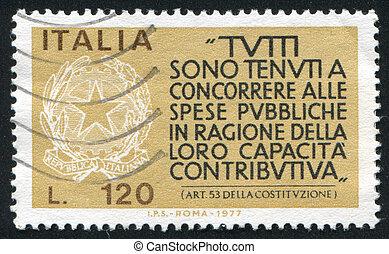 italiensk, forfatning