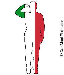 italiensk, hilsenen