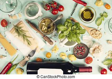 italiensk mad, baggrund