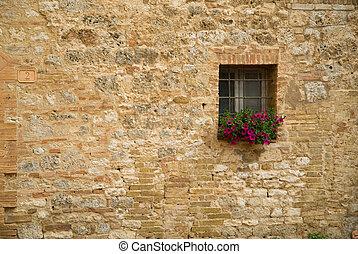 italiensk, vindue