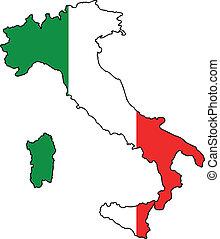 italský, mapa