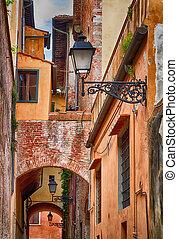 italský, vinobraní, architecture.