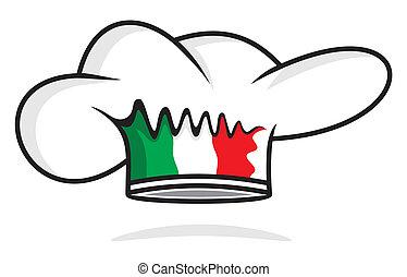 italský, vrchní kuchař povolání