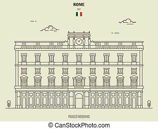 italy., ローマ, ランドマーク, wedekind, palazzo, アイコン