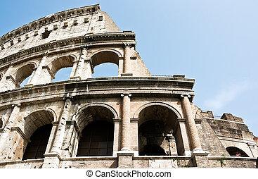 italy., 台なし, ローマ人, 古代, coliseum.