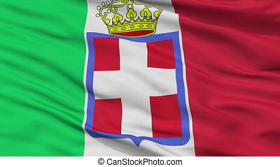 Italy 1860 Flag Closeup Seamless Loop - Italy 1860 Flag,...